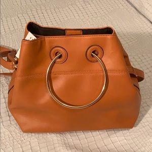 NWT Cesca Bucket brown bag and 2-way purse
